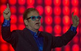 British singer Elton John. Picture: AFP.