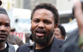 Black First Land First leader Andile Mngxitama. Picture: Christa Eybers/EWN