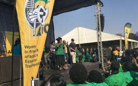 Nkosazana Dlamini-Zuma addressing the crowd at the ANCWL's umembeso and prayer gathering against women and children abuse in Ekurhuleni. Picture: Katleho Sekotho/EWN.