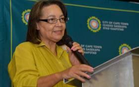 FILE: Cape Town Mayor Patricia de Lille. Picture: Facebook.com