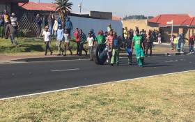 Diepkloof residents gather to protest over housing. Picture: EWN