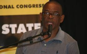 Premier of the Free State Ace Magashule addresses the ANC provincial general council on 28 November 2017. Picture: Twitter/@ANCFS.