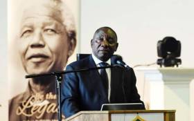 President Cyril Ramaphosa addressing Armed Forces Inter-Faith service at Mittah Seperepere Convention Centre in Kimberley. Picture: GCIS.