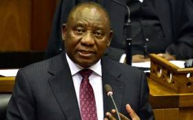 President Cyril Ramaphosa gives his response to the State of the Nation Address on 20 February 2018. Picture: Twitter/@PresidencyZA