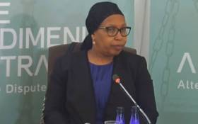 A screengrab of former Gauteng Health MEC Qedani Mahlangu gives testimony at the Esidimeni arbitration hearing in Johannesburg on 22 January 2018.