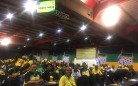 ANC North West delegation in the main hall at the party's conference at Nasrec on 16 December 2017. Picture: Rahima Essop/EWN.