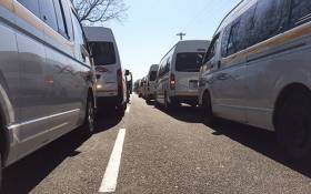 FILE: Minibus taxis blockade the N3 North approaching Alexandra during a protest on 8 November 2017. Picture: EWN Traffic