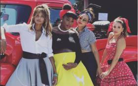 Serena William's 50s themed baby shower. Picture: Instagram
