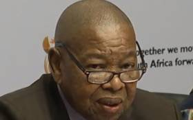 A screengrab of Transport Minister Blade Nzimande at a press briefing.
