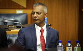 Anoj Singh addressing Parliamentarians during an inquiry into state capture on 23 January 2018. Picture: Cindy Archillies/EWN.