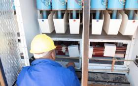 A technician working on repairs at the Wapadrand substation. Picture: @CityTshwane/Twitter.