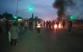 Residents in Lenasia South protest against land invasions. Picture: Mia Lindeque/EWN