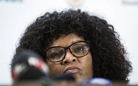 The Acting National Head of the Directorate for Priority Crime Investigation (HAWKS) Yolisa Matakata addressing the media at the Tshedimosetso House on the 23rd February 2018 in Pretoria on the 23rd February 2018. Picture: Sethembiso Zulu/ EWN