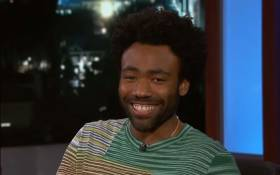 Donald Glover on 'Jimmy Kimmel Live'. Picture: Youtube Screengrab