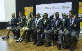 The top matriculants from 2017 are seen at the announcements of the results on 4 January, 2018. Picture: Ihsaan Haffejee/EWN