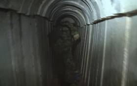 A screengrab of a tunnel in Gaza. Picture: CNN