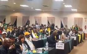 A screengrab of the ruling party's supporters attending Gauteng ANC provincial council. Picture: @GautengANC/Twitter