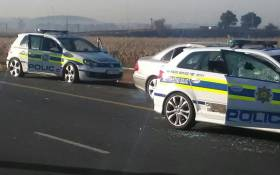 The scene from a shootout in Benoni between Saps and hijackers. 4 suspects died after being shot. Picture: Supplied