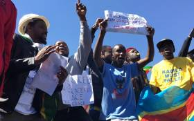 Zimbabwean nationals living in South Africa protest against Grace Mugabe. Picture: Hitekani Magwedze/EWN.