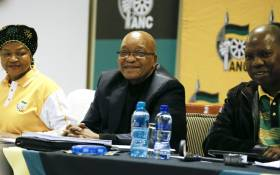 ANC president Jacob Zuma (centre) at the party's national executive committee meeting. Picture: AFP