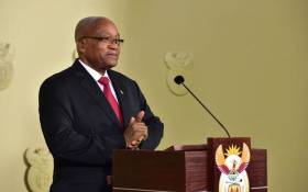 FILE: Jacob Zuma delivering an address on 14 February 2018 in which he announced his resignation as president of South Africa. Picture: GCIS.