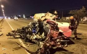 Four people were killed during an early morning collision on the M1 near Marlboro Drive on Sunday 14 May. Picture: @Netcare911_sa
