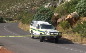 Police on the scene after a body was discovered on Table Mountain on 30 May 2017. Picture: Kevin Brandt/EWN.