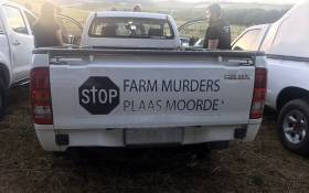 Farming communities protested against farm murders on 30 October 2017,  under the banner 'genoeg is genoeg' (enough is enough). Picture: Shamiela Fisher/EWN