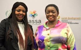 Sassa interim CEO Pearl Bhengu and Social Development Minister Bathabile Dlamini. Picture: Twitter/@The_DSD.