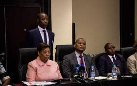 Minister of Basic Education Angie Motshekga briefs the media with the Council of Education Ministers. Picture: Kayleen Morgan/EWN