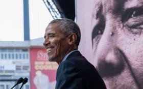 FILE: Former US President Barack Obama delivering the 2018 #MandelaLecture in Johannesburg on 17 July 2018. Picture: Twitter @ObamaFoundation