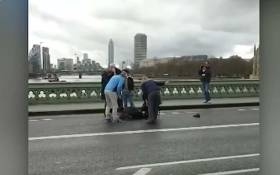 Five people were killed and about 40 injured in London on Wednesday after a car ploughed into pedestrians and a suspected Islamist-inspired attacker stabbed a policeman close to Britain's parliament. Picture: CNN