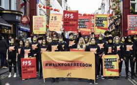 An A21 march against human trafficking in California on 14 October 2017. Picture: @A21.