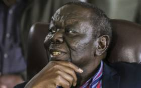 Zimbabwe's Movement for Democratic Change (MDC) leader Morgan Tsvangirai at a press conference on 16 November 2017 in Harare. Picture: AFP