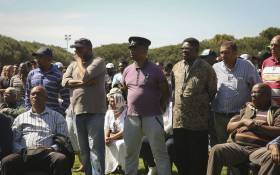 Representatives from different taxi organisations in the Western Cape gathered at the Wynberg Sports grounds. Picture: Cindy Archillies/EWN