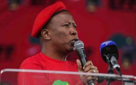 FILE: Julius Malema addressing supporters at the EFF Human Rights Day rally in Mpumalanga. Picture: @EFFSouthAfrica/Twitter