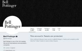 A screengrab of the protected British public relations firm Bell Pottinger Twitter page. Picture: Twitter.
