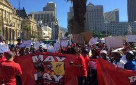 FILE: South African Post Office workers protest on 5 May 2016. Picture: Xolani Koyana/EWN.