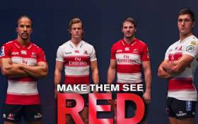 The Lions unveiled two jerseys, a home and away strip that comprises of the traditional red and white colours the franchise has donned for many years on 8 December 2018. Picture: Twitter/@LionsRugbyCo