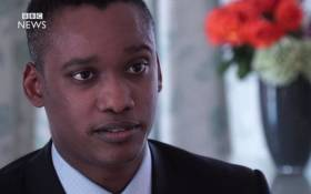 A screengrab of a BBC interview with Duduzane Zuma.