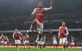 Arsenal's Alexandre Lacazette helped the Arsene Wenger side to keep up their 100% home record this season with a 2-0 win over West Bromwich Albion in the Premier League on 25 September 2017. Picture: Facebook.