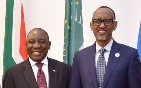 President Cyril Ramaphosa meet with his Rwandan counterpart Paul Kagame in Kigali on 20 March 2018. Picture: Twitter/@GovernmentZA
