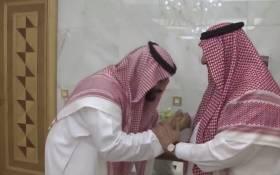 Saudi Arabia's new crown prince Mohammed bin Salman (left) greets his father King Salman. Picture: screengrab/CNN