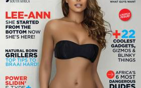 """Maxim says Lee-Ann Liebenberg was chosen as the cover girl because she's """"South Africa's golden girl""""."""