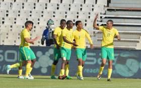 FILE: Bafana Bafana players celebrate a goal. Picture: safa.net