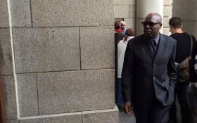 Local artist Zwelethu Mthethwa is pictured outside the Western Cape High Court on 8 March 2016. Picture: Xolani Koyana/EWN.