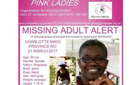Charlotte Nikoi was last seen on 21 March. Picture: facebook.com