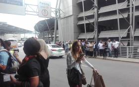 People were evacuated from the OR Tambo International Airport on 19 February 2018 after the discovery of an unattended bag. Picture: Supplied