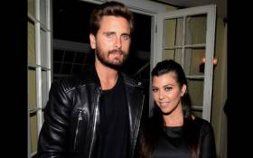 FILE: TV personalities Scott Disick (L) and Kourtney Kardashian attend Opening Ceremony and Calvin Klein Jeans' celebration launch of the #mycalvins Denim Series with special guest Kendall Jenner at Chateau Marmont on 23 April 2015 in Los Angeles, California. Picture: AFP.