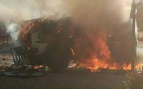 Police are monitoring Lichtenburg in the North West this morning, following violent protests in the area. Picture: Moitheri Lephoi/iWitness